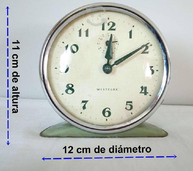 Reloj de cuerda retro westclox made in scotland