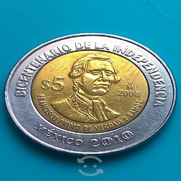 Hermosa moneda francisco primo de verdad s/puntos