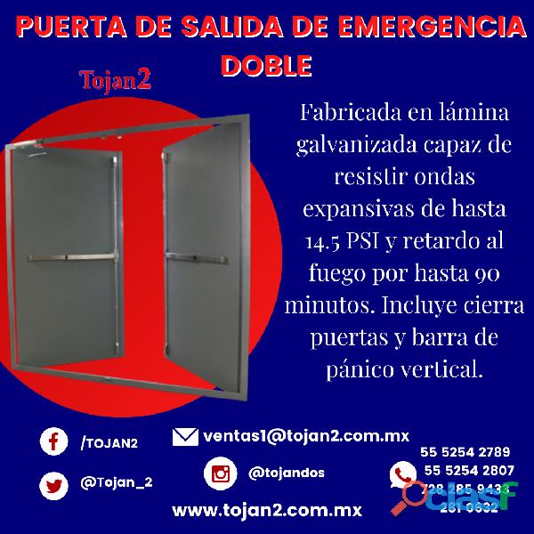 Puerta de salida de emergencia doble