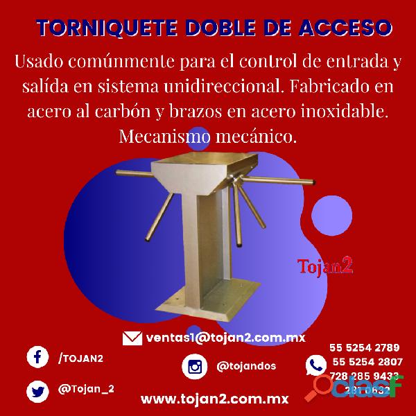 TORNIQUETE DE DOBLE ACCESO UNIDIRECCIONAL