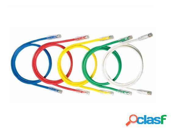 Panduit cable patch cat6 utp rj-45 macho - rj-45 macho, 30cm, rojo