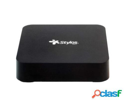 Stylos tv box stvtbx2b, android 7.1, 16gb, wifi, hdmi, 4x usb, negro