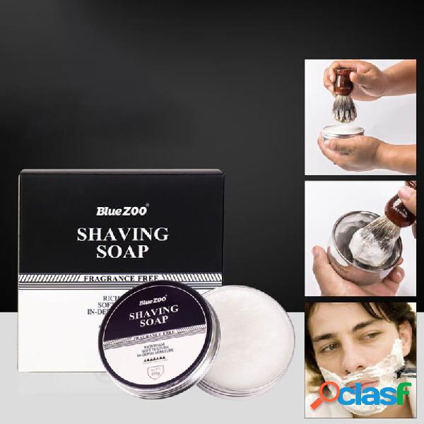 100g crema de afeitar natural cuidado de la cara afeitado barba afeitado sándalo menta perfume espuma jabón