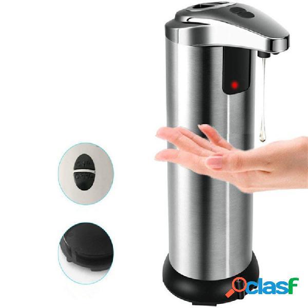 Dispensador automático jabón interruptor doble sin contacto movimiento de acero inoxidable sensor