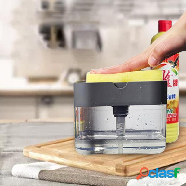 Prensa jabón dispensador fregadero de cocina con detergente hogar cepillo olla prensadora lavavajillas lavavajillas cepillo