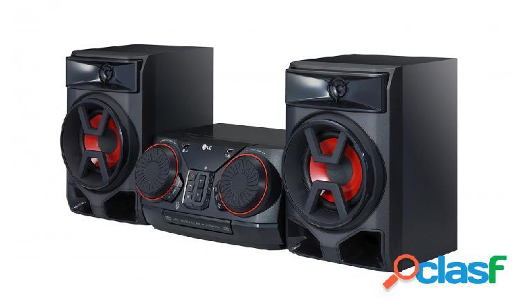 Lg ck43 mini componente, bluetooth, 300w rms, usb 2.0, negro
