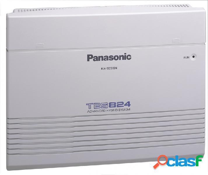 Panasonic sistema pbx kx-tes824, 3 lineas, 8 extensiones, blanco