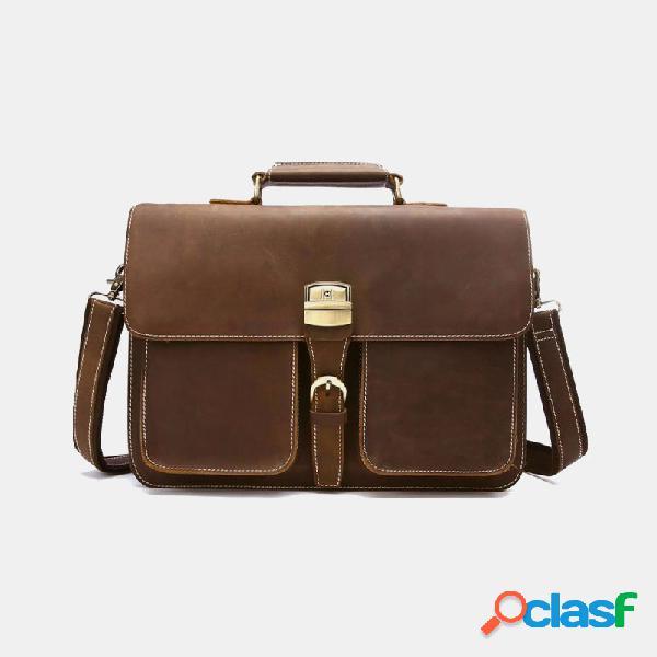 Hombre multifunción 14 inch maletín para ordenador portátil bolso de negocios crossbody bolsa