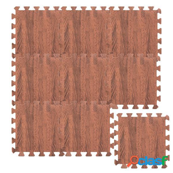 1 unid (30 * 30 cm) imitación de espuma de madera ejercicio esteras gimnasio alfombras de garaje alfombras