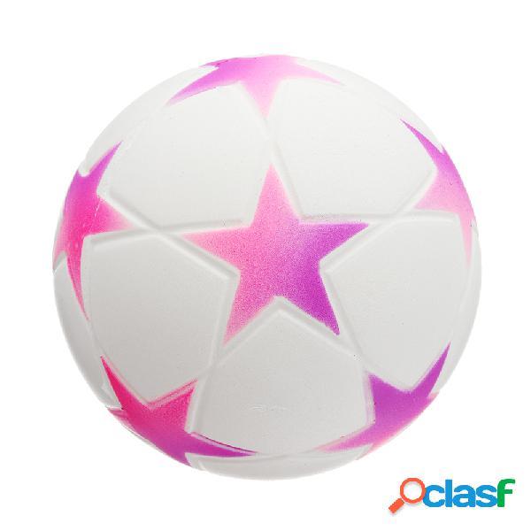Star football squishy lento levantamiento con empaquetado colección regalo soft toy