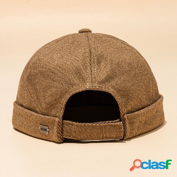 Hombres mujer sección de color liso sombrero hip hop sombrero gorra marinera algodón sombrero cráneo gorras