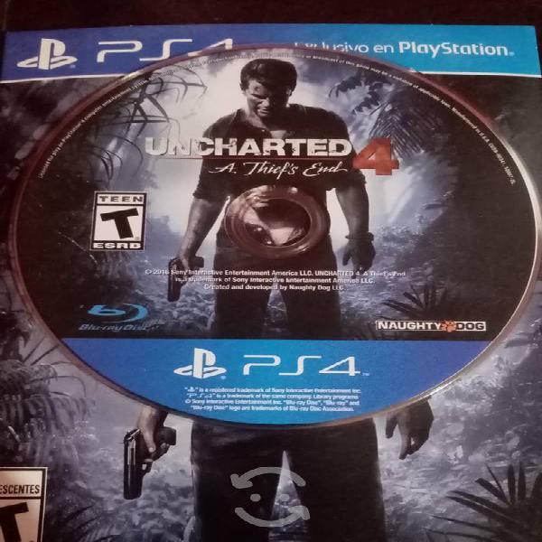 Uncharted 4 para consola ps4