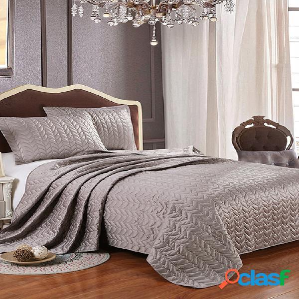 1 funda de cama + 2 fundas de almohada, colcha de satén, juego de ropa de cama de estilo europeo, edredón de tejido jacquard, manta para acolchar, cama
