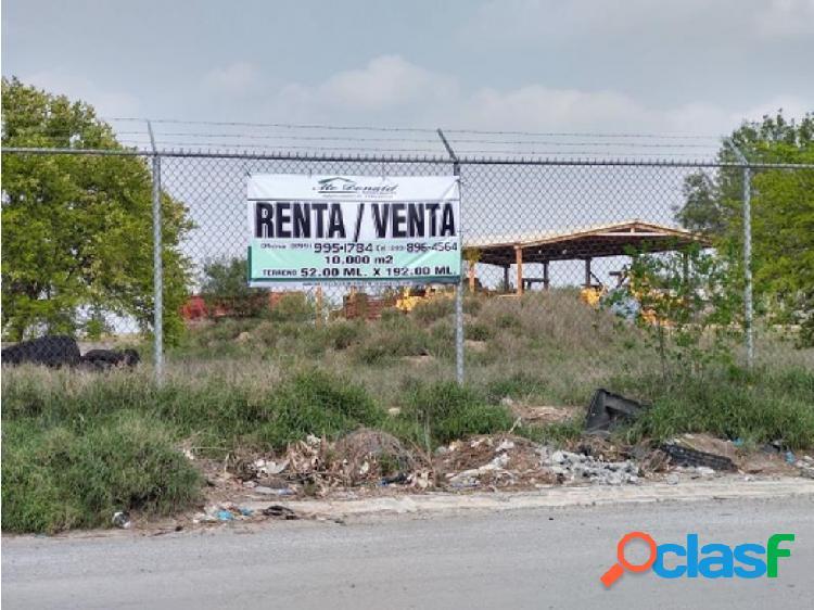 Terreno comercial/habitacional loma real en reynosa