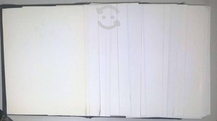 Hojas viejas tamaño carta de papel bond