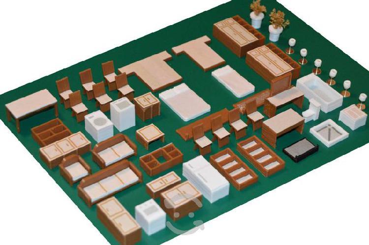 Muebles para maquetas y/o dioramas casa habitación