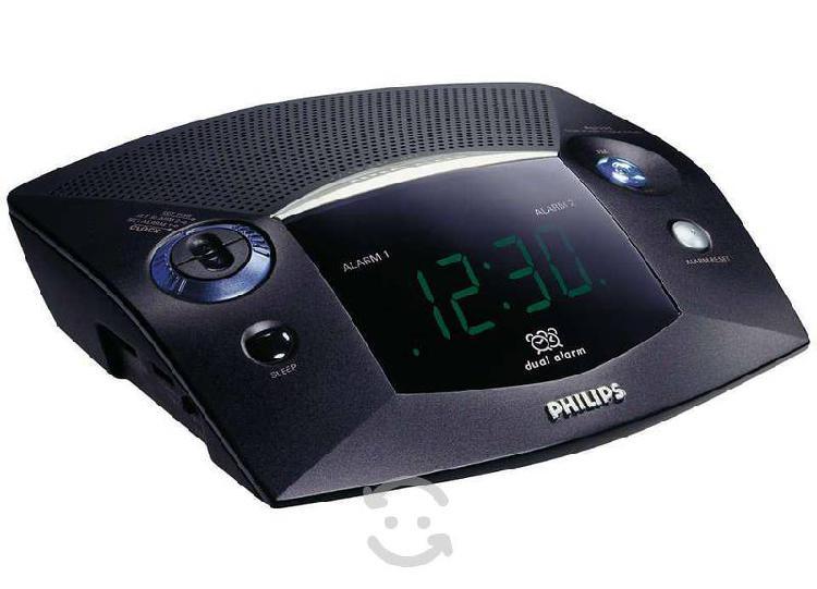 Reloj despertador philips doble alarma,radio am/fm