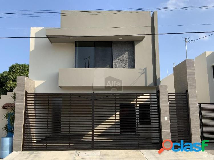 Casa sola en venta en unidad nacional, ciudad madero, tamaulipas