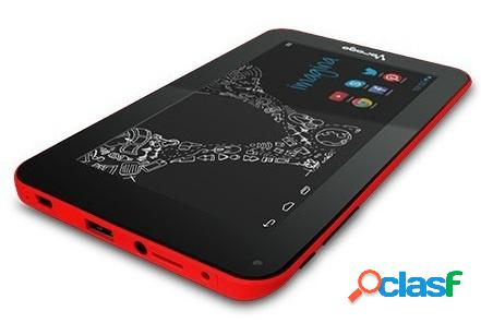 Tablet vorago pad-7 7'', 8gb, 800 x 480 pixeles, android 4.4, wlan, rojo