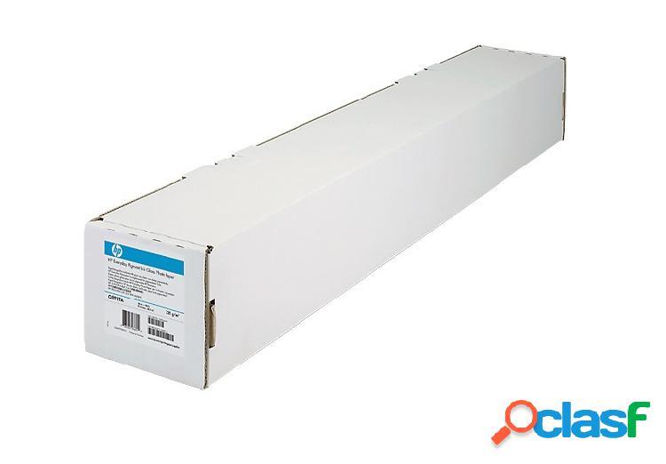 Hp rollo de papel mate 61cm x 23 metros, blanco