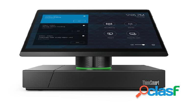 Lenovo sistema de videoconferencia thinksmart hub 500 con micrófono, full hd, 1x rj-45, 3x hdmi, 4x usb, negro - incluye cámara de videoconferencia logitech meetup