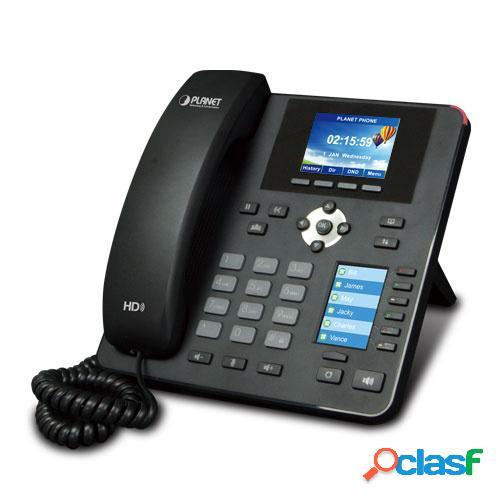 Planet teléfono ip con pantalla 2.8'' vip-2140pt, 4 líneas, 10 teclas programables, altavoz, negro