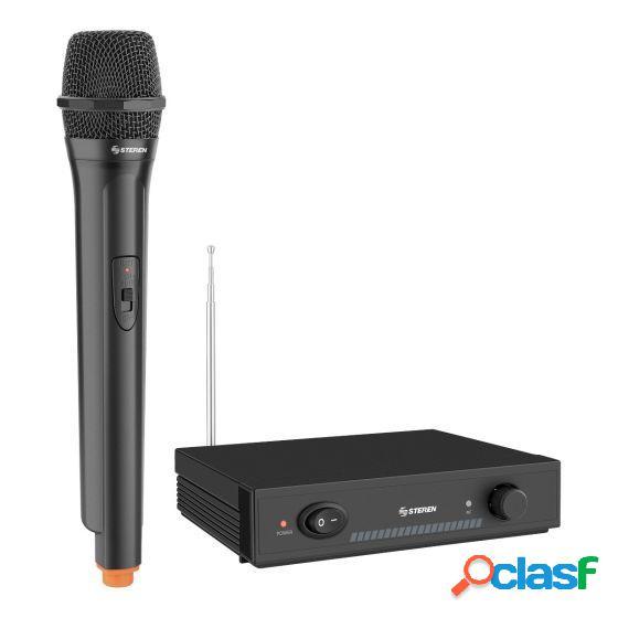 Steren micrófono wr-030, inalámbrico vhf, negro