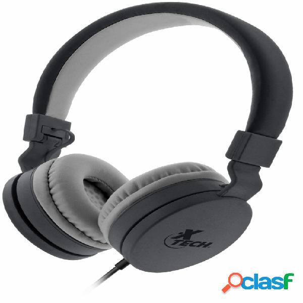 Xtech audífonos con micrófono xth-340, alámbrico, 1.2 metros, negro