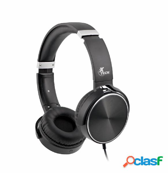 Xtech audífonos con micrófono xth-345, alámbrico, 1.45 metros, 3.5mm, negro