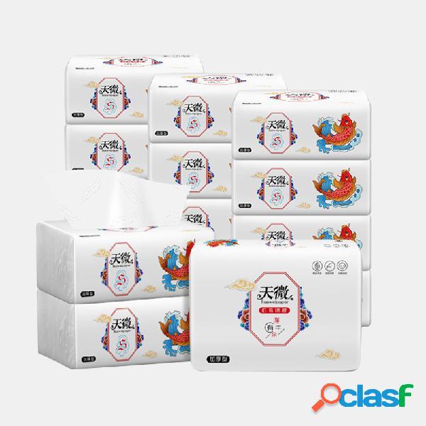 10 paquetes de 4 capas para bebés soft papel de bombeo papel de servilleta de pulpa de bambú nativo