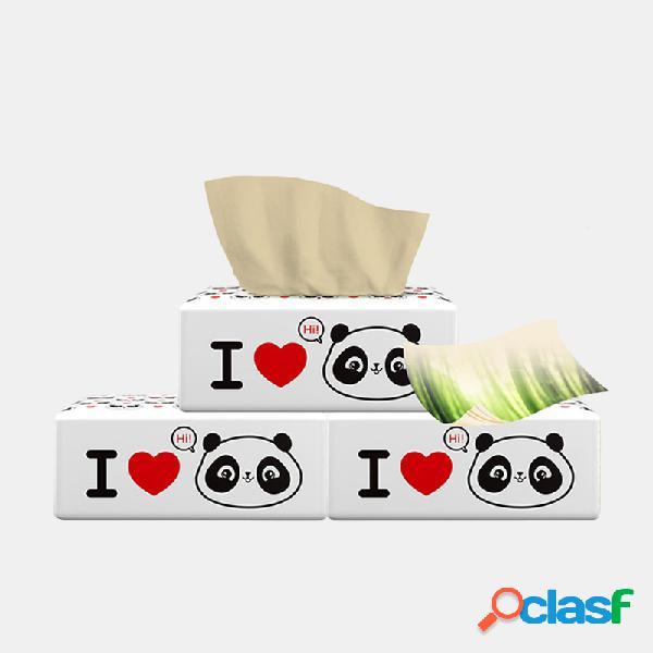 Papel de bombeo doméstico 420 hojas / 6 paquetes de papel de pulpa de bambú reciclado múltiple