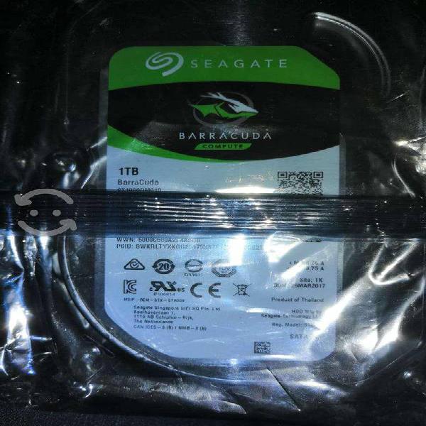 2 discos duros seagate y wd 1tb y 500gb