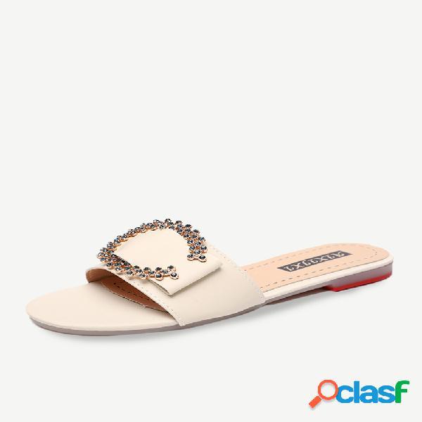 Net red zapatillas mujer tide season nueva ropa exterior wild flat ladies playa sandalias y zapatillas mujer