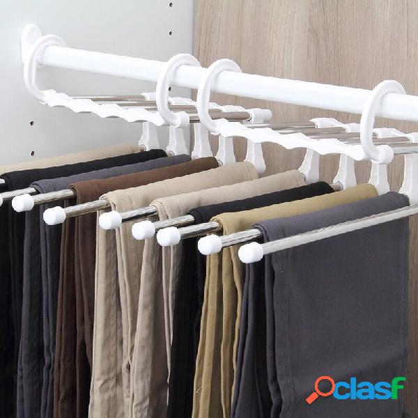 Cinco pulgadas one magia pantalones rack magia pantalones rack almacenamiento de varias capas acero inoxidable pantalones rack