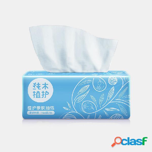 Papel de servilleta para el hogar de 3 capas que no daña la piel 110 bombas papel de servilleta para el hogar de pulpa de bambú nativo