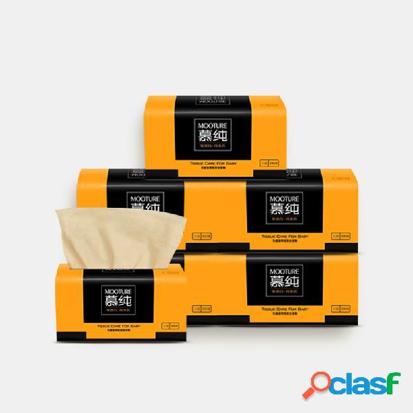 3 capas soft papel de bombeo doméstico 130 hojas / 6 paquetes de papel de servilleta de pulpa de bambú múltiple