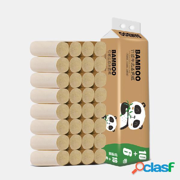 Papel de bambú sin núcleo de 16 rollos toalla ultra soft papel higiénico para el hogar hotel cafetería tienda restaurante