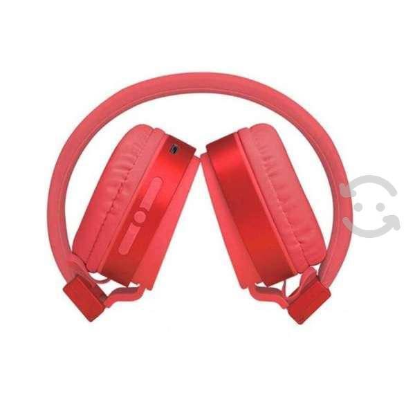Audifonos on ear rojo bluetooth 5.0 cel lap diadem