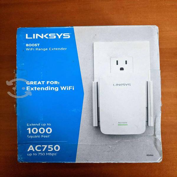 Extensor de red wi-fi ac750 boost linksys re6300