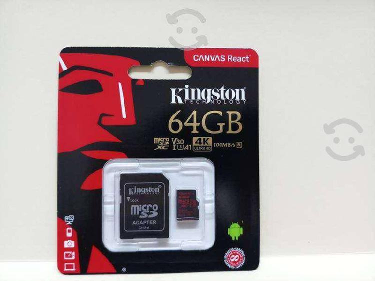 Kingston micro sd 64gb canvas react