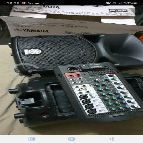 Sistema de audio yamaha stagepass400bt