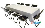 alquiler de mesas y sillas para eventos en Pachuca