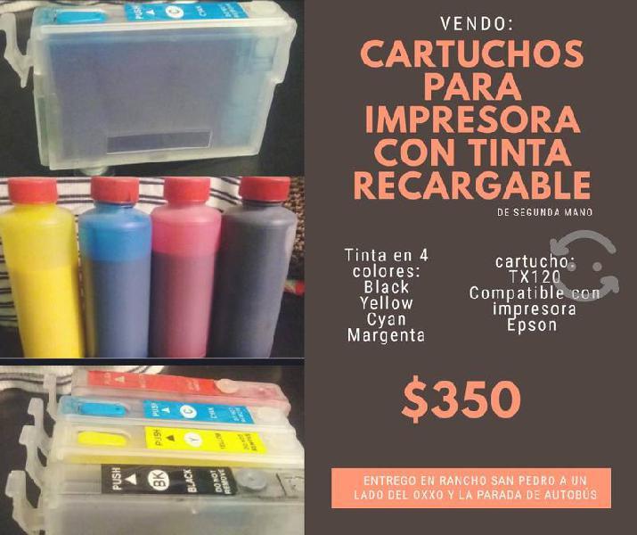 Cartuchos para impresora con tinta recargable