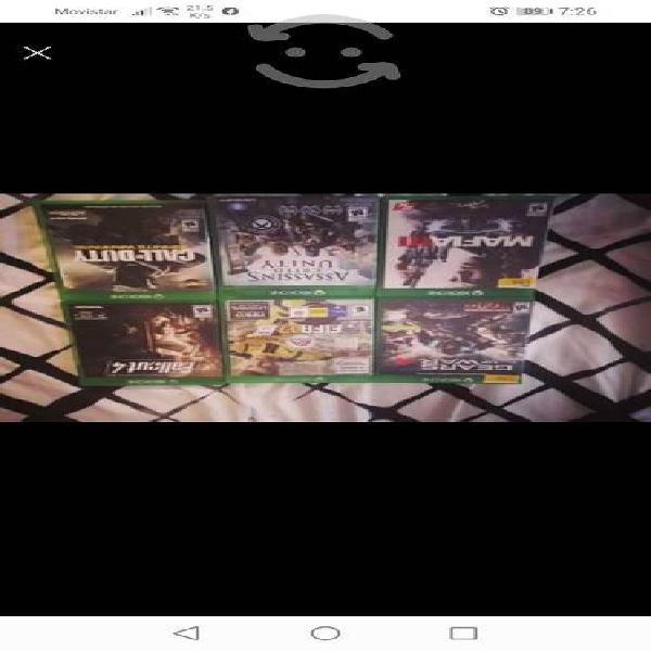 Vendo juegos de xbox one estética 9/10