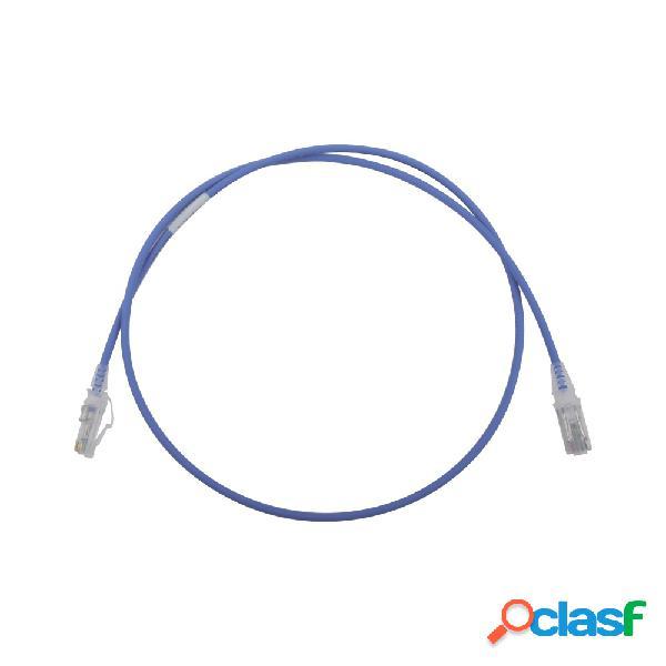 Siemon cable patch cat6 utp rj-45 macho - rj-45 macho, 90cm, azul