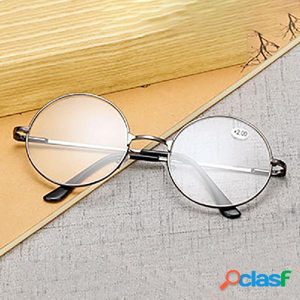 Espectaculos redondos gafas de lectura gafas de montura metálica presbicia hombre mujer gafas de lectura retro