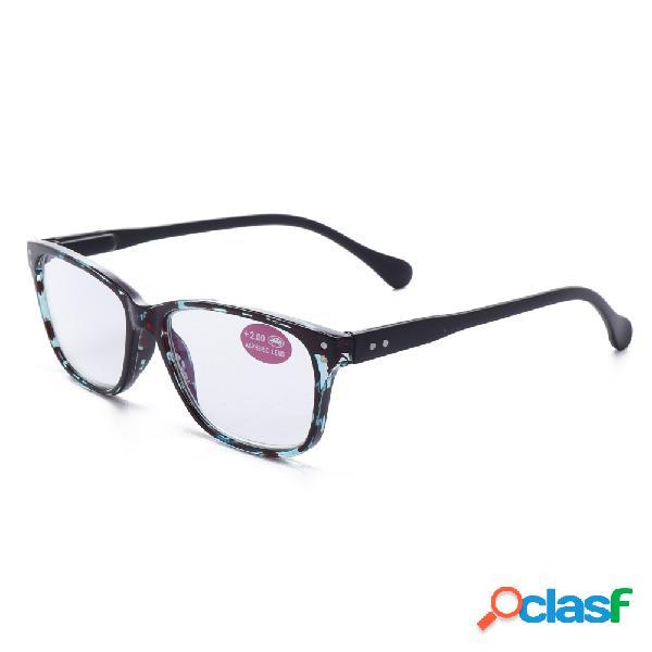Hombres para mujer retro anti-fatiga lectura gafas moda informática presbicia gafas