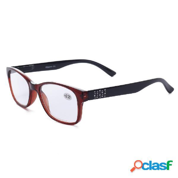 Mujer lectura retro gafas presbicia de computadora resistente al desgaste gafas