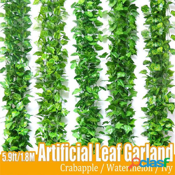 180cm la mejor vid de guirnalda de arrastre artificial lvy planta jardín boda
