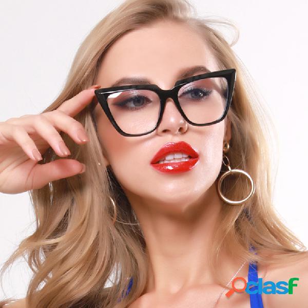 Azul claro gafas marcos mujer gato anteojos de ojo señoras retro de gran tamaño marco óptico gafas